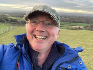 Selfie of a man in the Southdowns